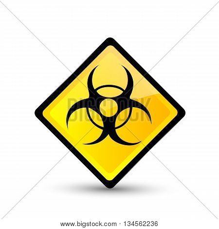 Bio hazard symbol. Vector illustration. Vector icon.