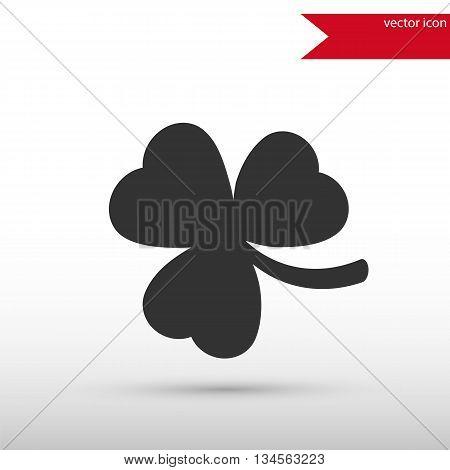 Shamrock Icon. Clover icon. Saint patrick symbol. Ecology concept. Flat design style. Template for design.