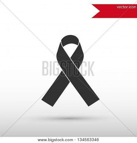 AIDS awareness ribbon icon . AIDS symbol. Ribbon AIDS icon. Flat design style. Template for design.