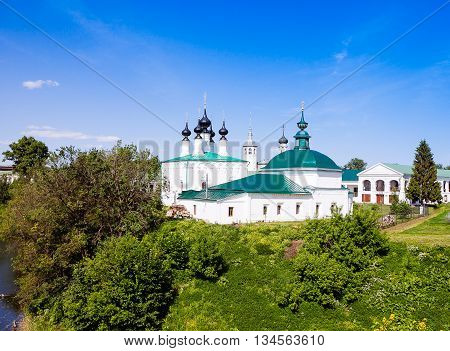 Suzdal, Russia.  Log-jerusalem Church (the Church Of The Entry Into Jerusalem) And Church Of St. Par