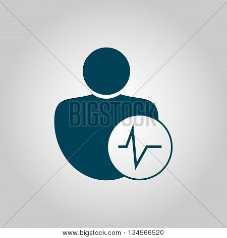 User Pulse Icon In Vector Format. Premium Quality User Pulse Symbol. Web Graphic User Pulse Sign On