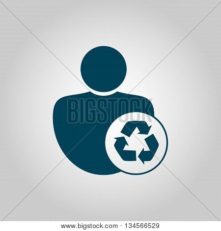 Recycle Icon In Vector Format. Premium Quality Recycle Symbol. Web Graphic Recycle Sign On Grey Back