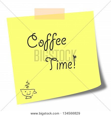 coffee time note - break time note concept
