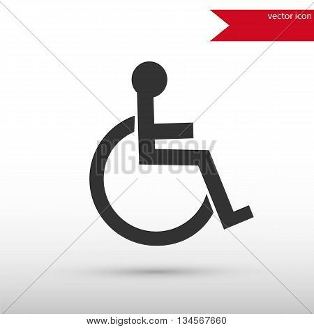 Disabled icon. Disabled symbol. Flat design style. Template for design.