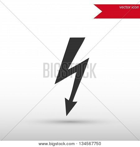 Lightning icon vector. Lightning cigarette icon JPEG. Vector illustration design element. Flat style design icon.