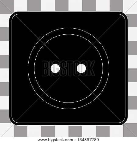 Vector Power socket icon. Electricity power adapter sign on a transparent background