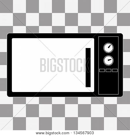Vector Microwave Icon sign on a transparent background