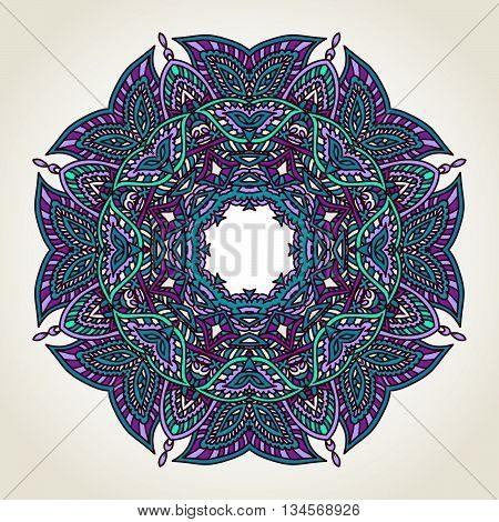 Floral Doodle Mandala