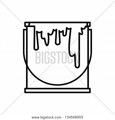 Paint can icon in outline style isolated on white background