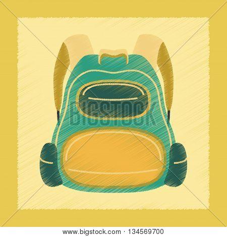 flat shading style icon fashionable school bag