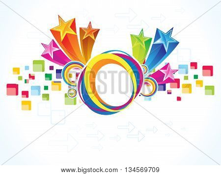 abstract artistic detailed colorful explode vector illustration