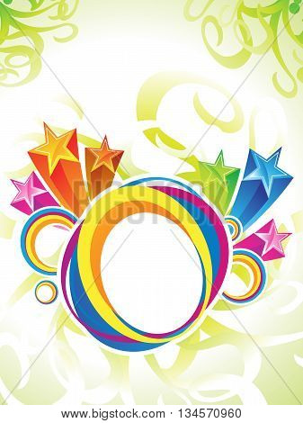 abstract artistic colorful circle explode vector illustration