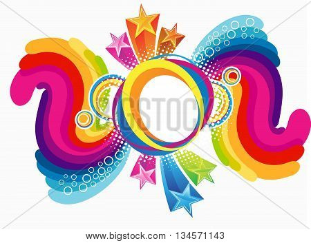 abstract artistic colorful rainbow explode vector illustration