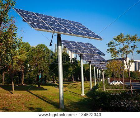 The solar power green energy in  Park