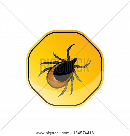 vector image of a tick - a warning about the risk of Contracting a tick-borne encephalitis