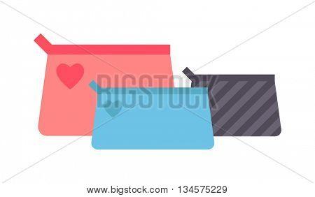 Clutch handbag vector illustration.