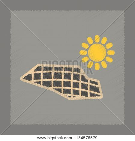 flat shading style icon nature solar panels