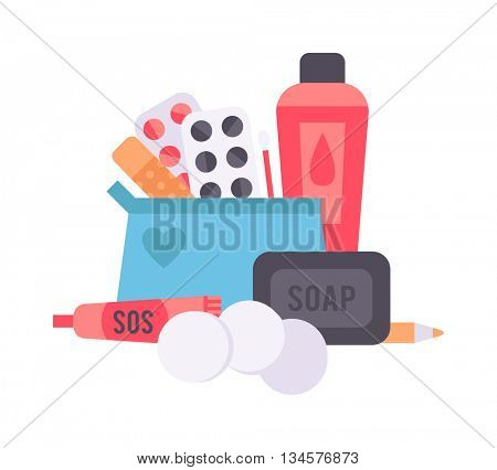 Contraceptives vector illustration.