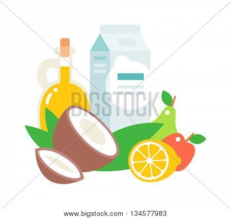 Everyday products vector illustration.