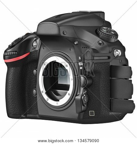 Digital camera professional without lens. 3D graphic