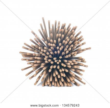 Incense bales isolated on a white background.