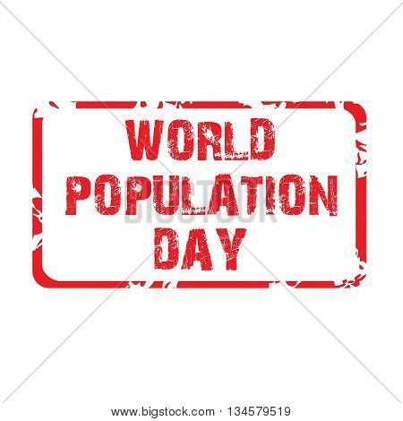 Illustration of a stamp for World Population Day.