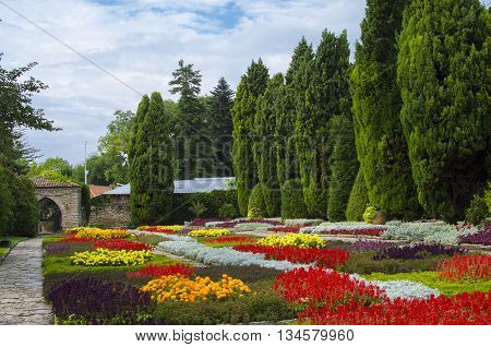 Botanical garden - Balchik (Bulgaria). The Botanical Garden is the main attraction in town of Balchik. In the garden in situated the castle/villa of the Romanian Queen Marie. The gardens are set on a steep hillside. There are over 2000 varieties of flower