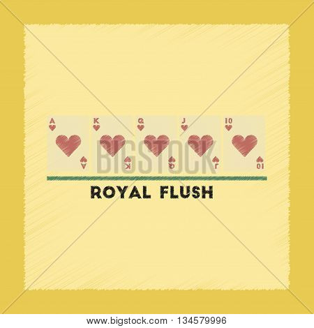 flat shading style icon poker royal flush
