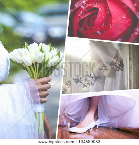 Collage of  the beautiful Wedding time sensational