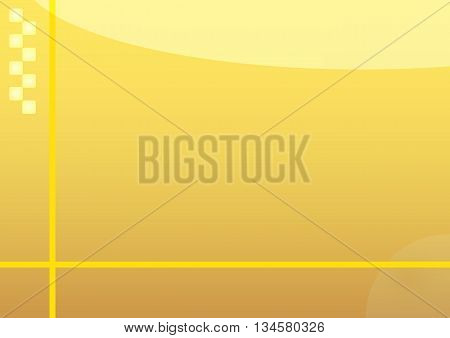 Illustration of yellow abstract background with yellow lines