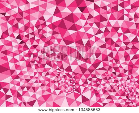 Low poly style vector pink low poly design Abstract low poly background vector Geometric pink background with triangular polygons.