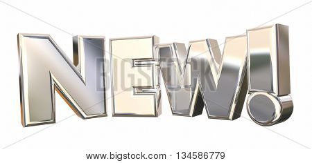 New Exciting Announcement Big Deal Word 3d Illustration