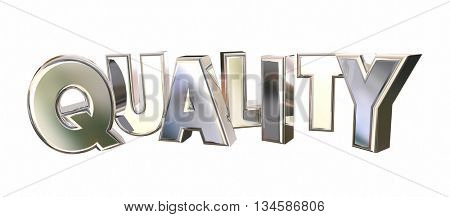 Quality Best Shiny Word Letters Rising 3d Illustration