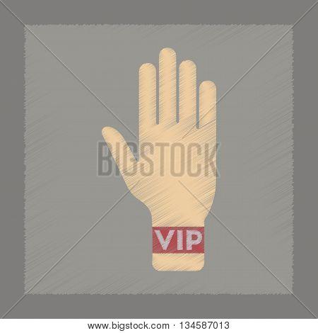 flat shading style icon poker hand VIP