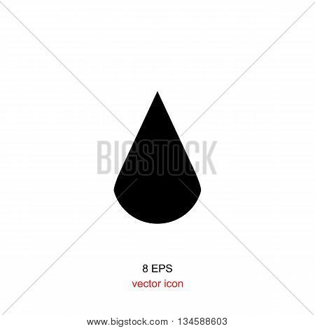 Black Drop Icon On A White Background