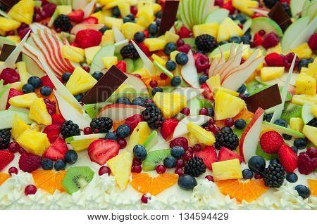 particular of wedding fresh mixed fruit cake