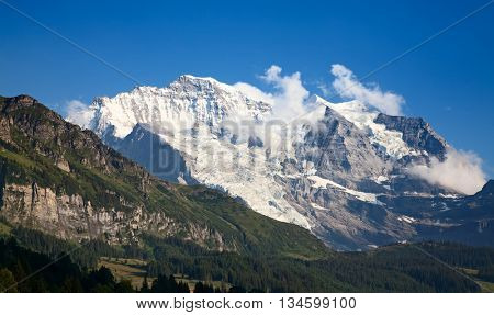 Summer landscape in the Jungfrau region