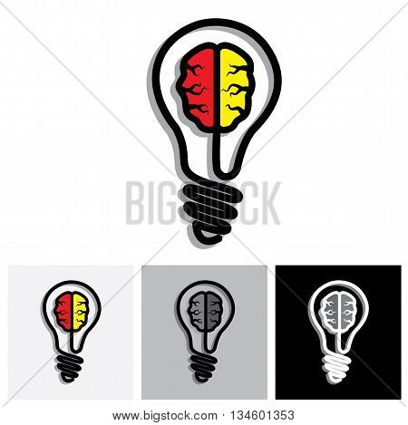 Concept Vector Icon Of Idea Generation, Problem Solution, Creativity
