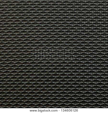 Closeup surface old black fiber at luggage texture background