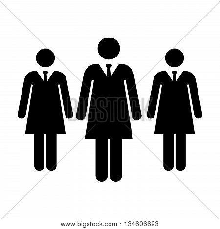 Women Icon - Businesswomen, Team, Group, Management Icon in Vector illustration