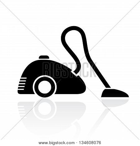 Vacuum cleaner symbol isolated on white background