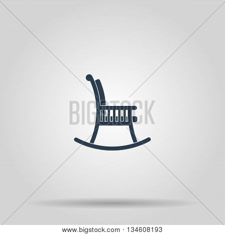 rocking chair icon. Concept illustration for design.