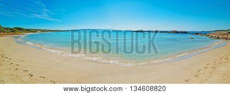 Panoramic view of Le Bombarde beach Sardinia