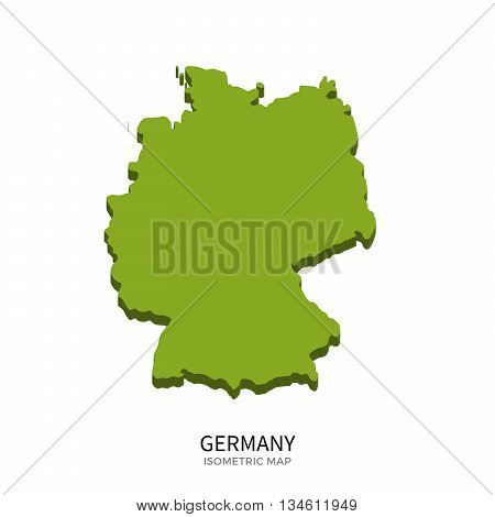 Isometric map of Germany detailed vector illustration. Isolated 3D isometric country concept for infographic