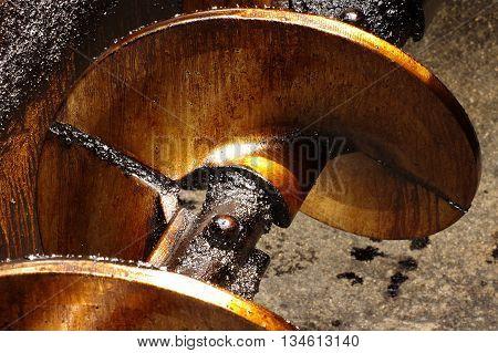 auger asphalt machine part industries theme detail.