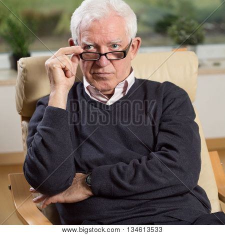 Portrait Of Senior Psychotherapist