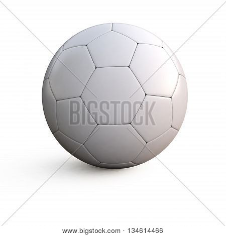 3d illustration of a white soccer ball on isolated background