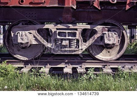 Old Wheels On Freight Wagon
