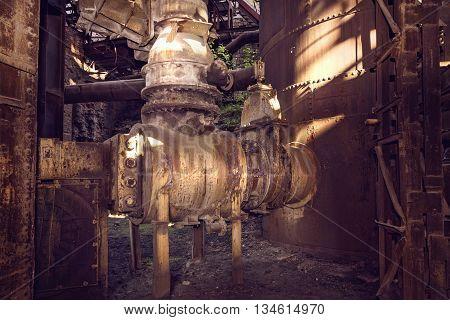 Old Mechanism In Blast Furnace Workshop