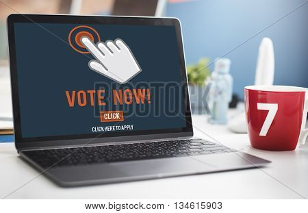 Vote Now Election Polling Political Concept